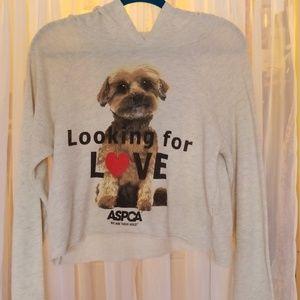 ASPCA Long Sleeve Crop with Hood